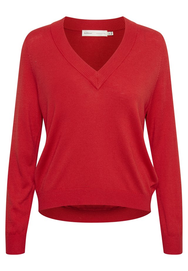 Pullover - fiery red