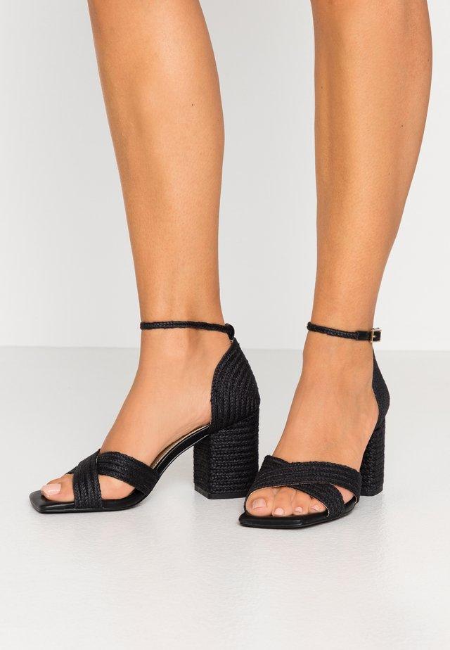 BRAIDED  - Sandals - black