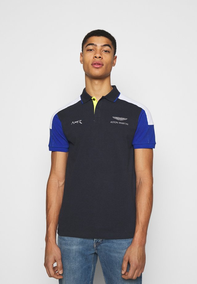 BLOCK PANEL - Polo - navy/white