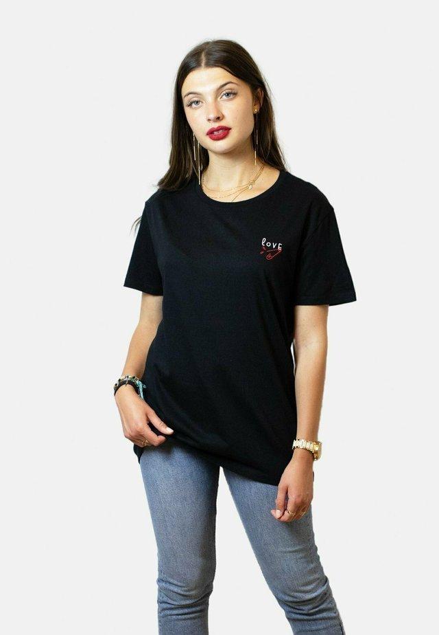 LOVE  - T-shirt basic - black