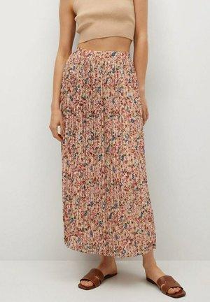 FALDA PLISAD - Maxi skirt - crudo