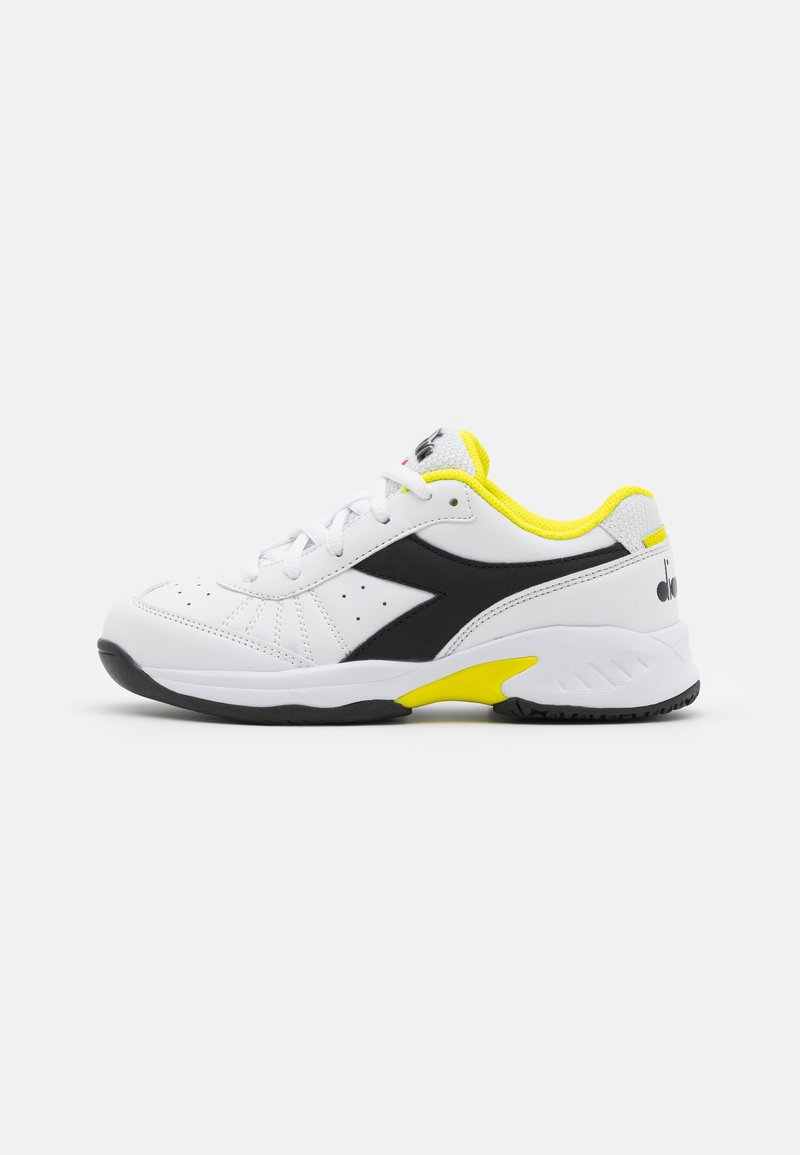 Diadora - S. CHALLENGE 3 JR UNISEX - Zapatillas de tenis para todas las superficies - white/black/sulphur spring