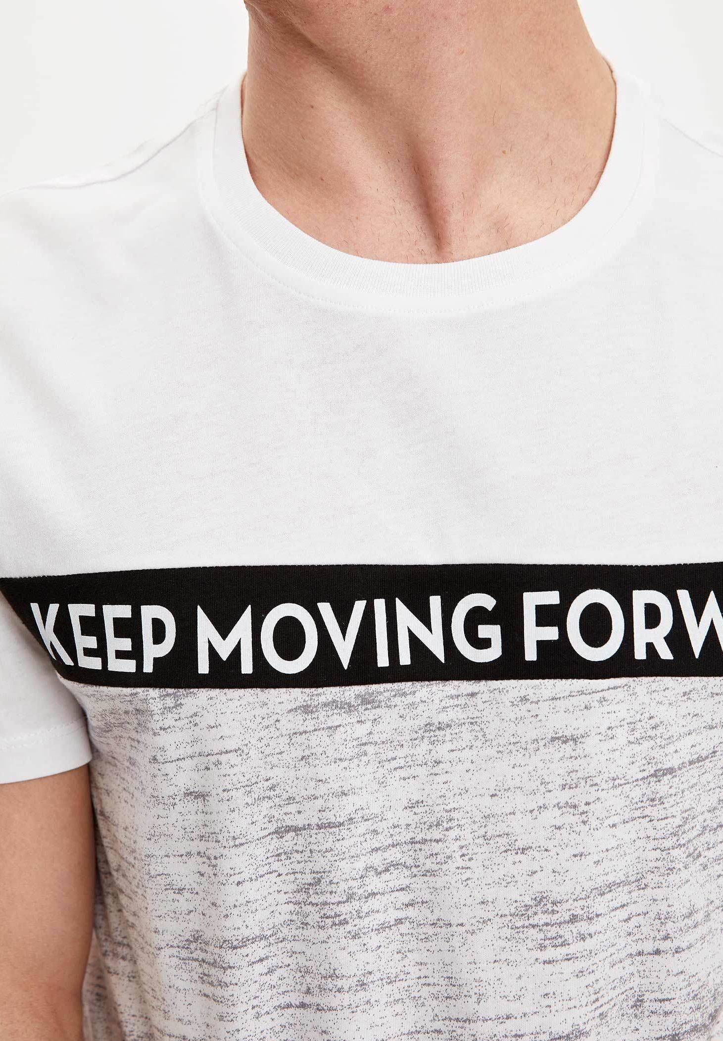 DeFacto Print T-shirt - grey 3HIN8