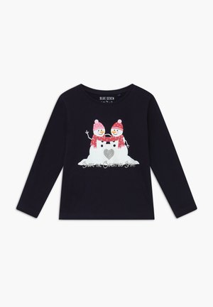 KIDS CHRISTMAS REINDEER - Long sleeved top - dark blue