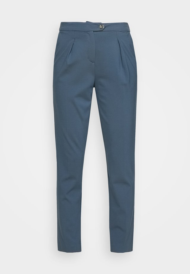 PLEATED PANTS - Pantalon classique - stormy sea blue