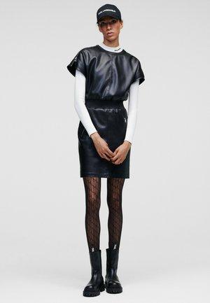 SHORT - Shift dress - black