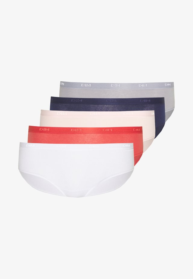 POCKET ECODIM BOXER 5 PACK - Underbukse - infini blue/grey/ballerina pink/red/white