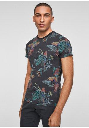 Print T-shirt - dark grey aop