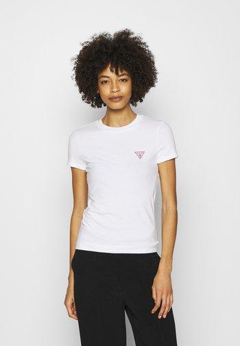 MINI TRIANGLE - Jednoduché triko - true white