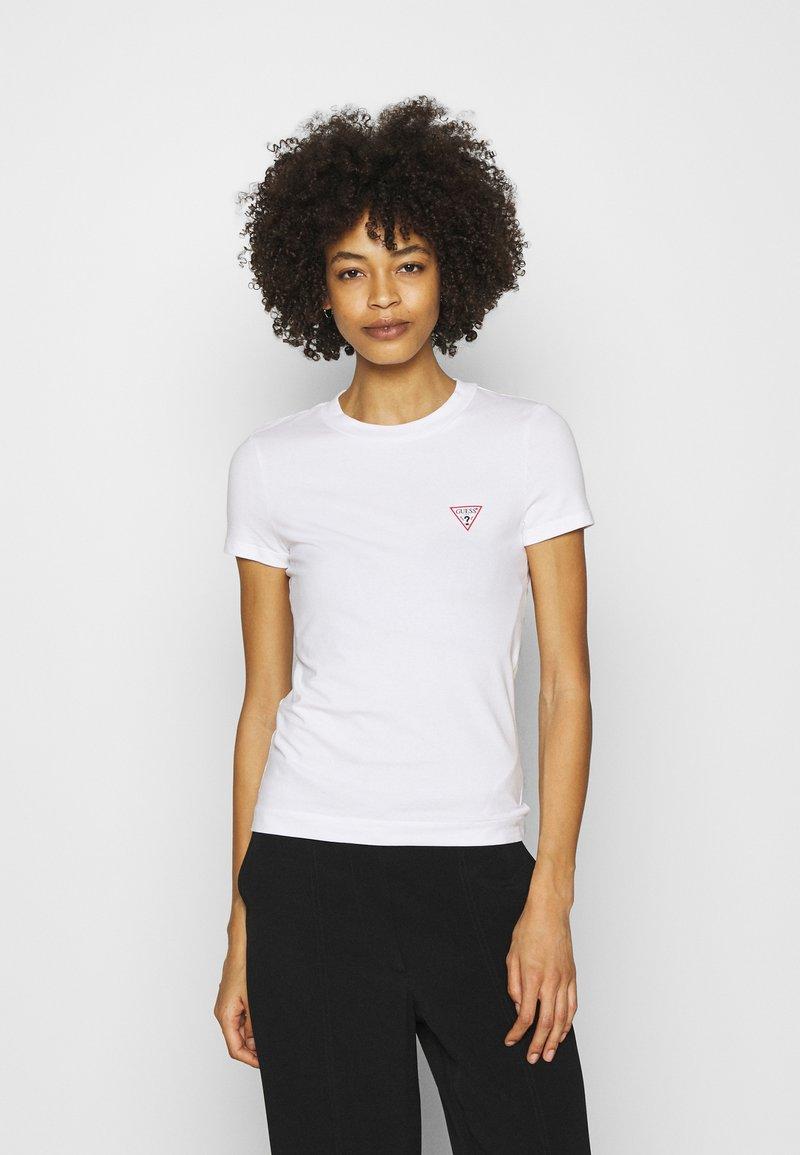 Guess - MINI TRIANGLE - T-shirts basic - true white
