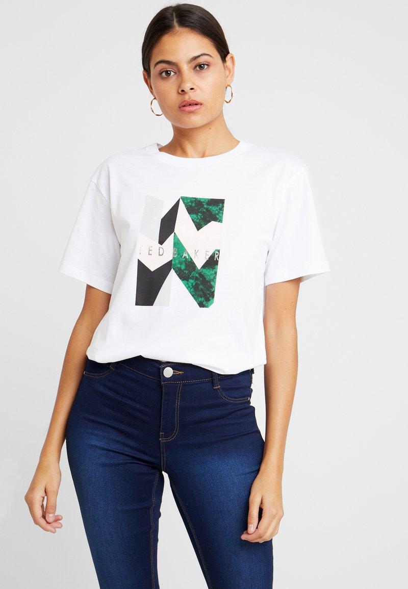 Ted Baker - LINDIAA - Print T-shirt - white