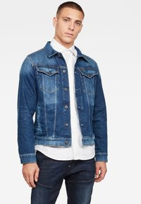G-Star - 3301 SLIM - Denim jacket - faded stone - 0