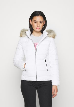 ESSENTIAL HOODED - Winter jacket - white