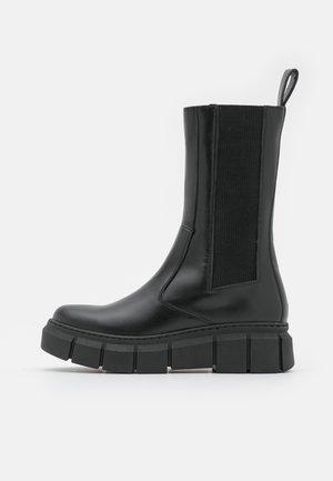 ARMOR - Platform boots - total black
