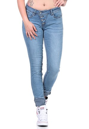 Jeans Skinny Fit - stripe denim