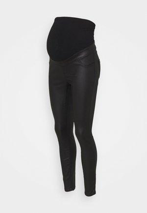 MATERNITY OVERBUMP COATED EDEN  - Jeans Skinny Fit - black