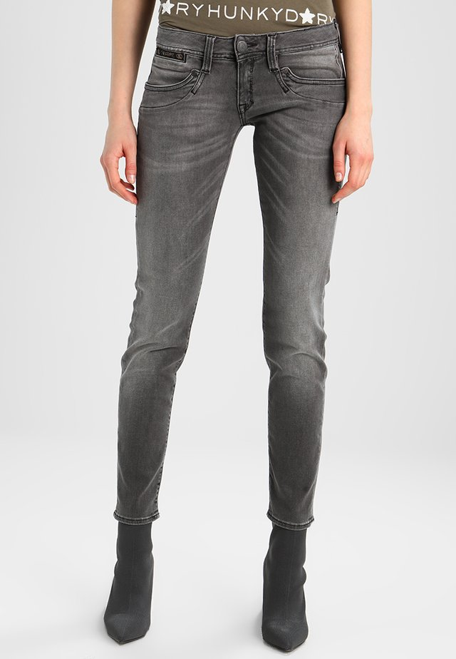 PIPER SLIM - Slim fit jeans - dark ash