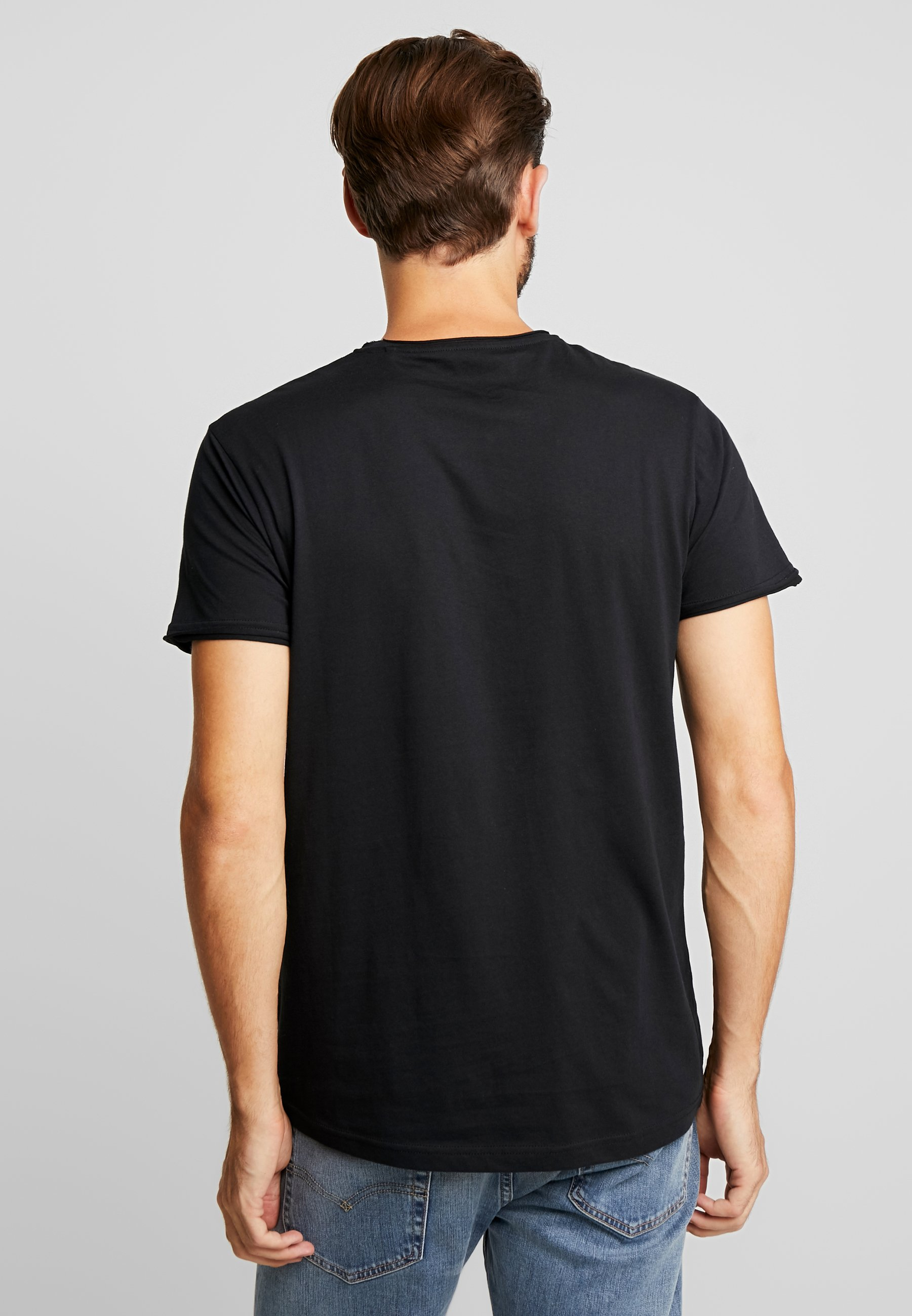 Solid GAYLIN - Basic T-shirt - black cLe1d