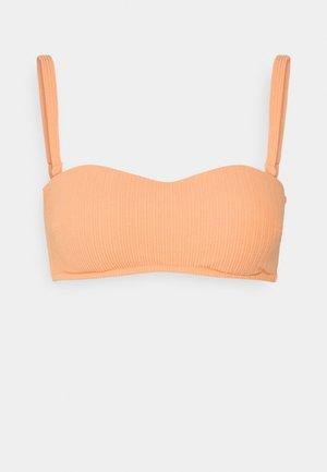 GATHERED REMOVABLE PAD - Bikini top - sorbet orange