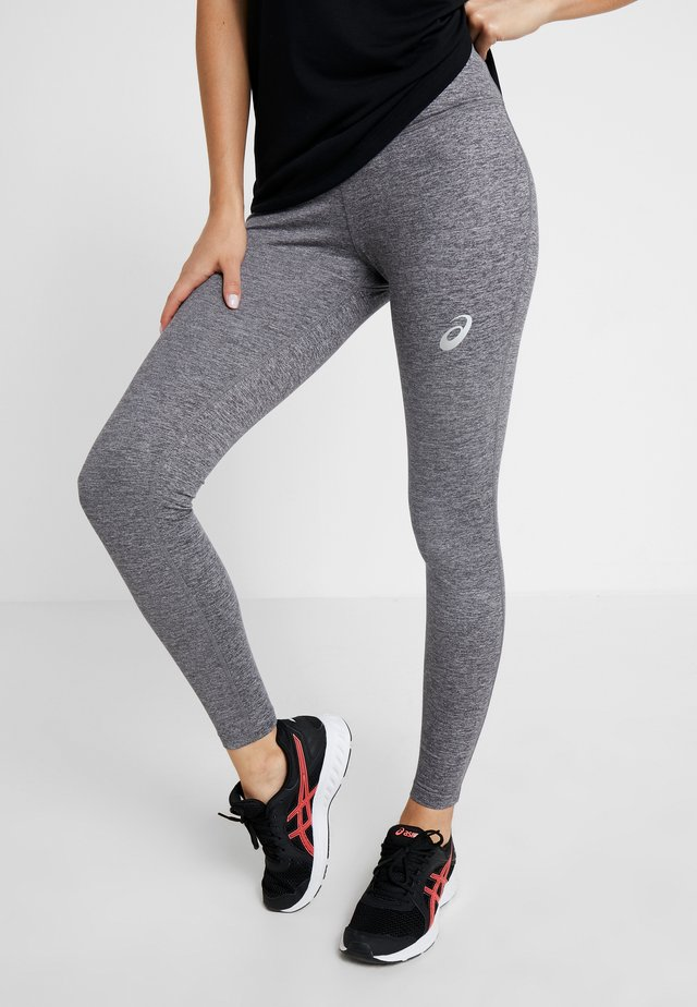 HIGH WAIST - Leggings - mid grey heather/dark grey heather