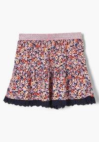 s.Oliver - A-line skirt - blue floral print - 1