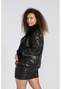 SPG Woman - Imitatieleren jas - black - 2