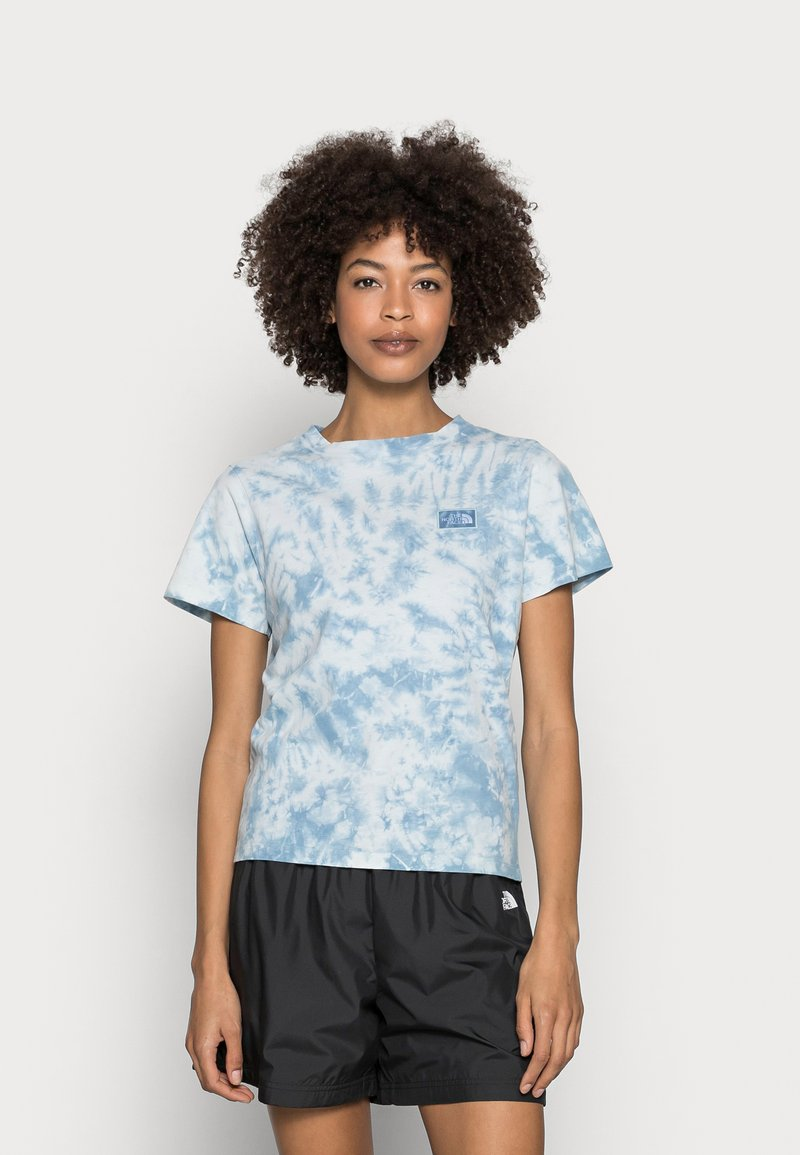 The North Face - NATURAL DYE TEE - T-shirt med print - tourmaline blue