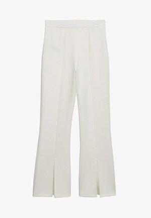 FLARE ABERTURAS - Trousers - crudo