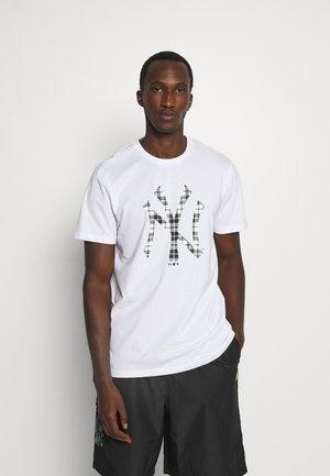 MLB NEW YORK YANKEES INFILL TEE - Club wear - white/grey