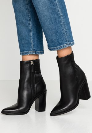 NELACIA - High heeled ankle boots - black