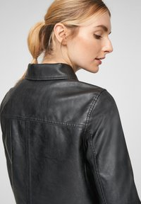 QS by s.Oliver - Faux leather jacket - black - 5