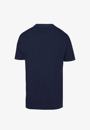 WE FASHION HEREN FIJNGEBREIDE POLO MET KNOOPSLUITING - Camisa - dark blue