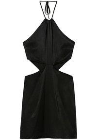 Bershka - SHORT SATIN CUT OUT HALTER DRESS - Cocktail dress / Party dress - black - 1