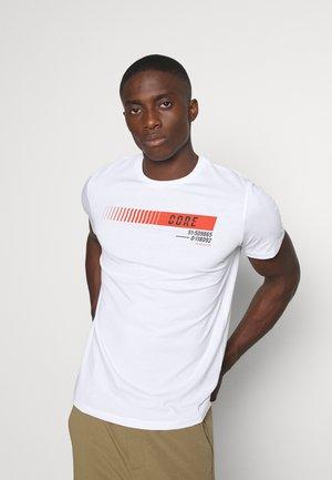 JCOICONIC TEE CREW NECK - T-shirt imprimé - white