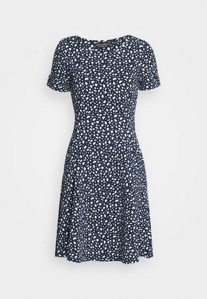 SPOT PRINT DRESS - Sukienka z dżerseju - navy