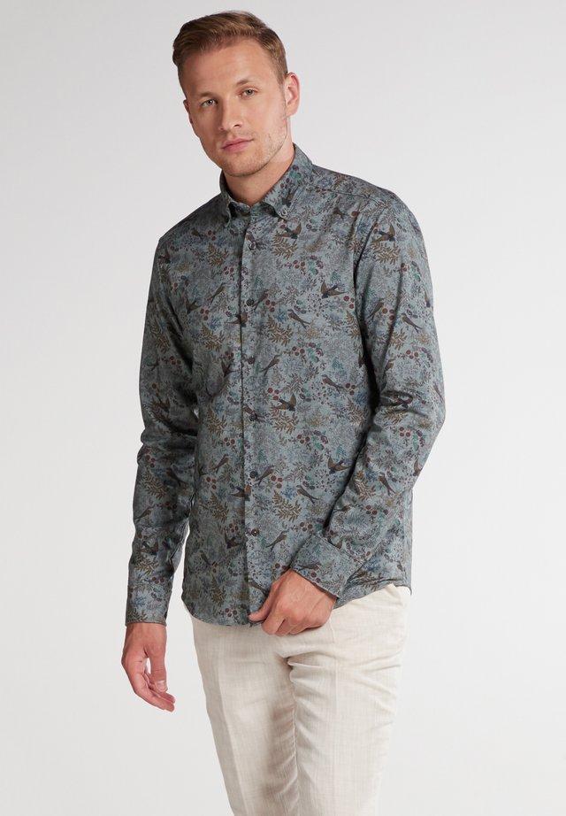 SLIM FIT - Overhemd - blau/weiß