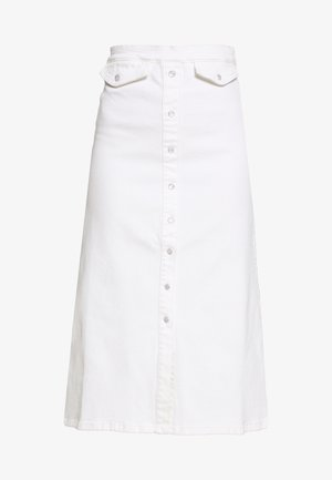 ASTRID LONG SKIRT - Falda vaquera - bright white