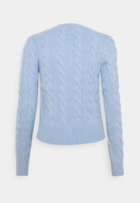 Polo Ralph Lauren - CARDIGAN LONG SLEEVE - Kardigan - light blue heather - 1