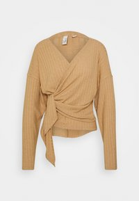 Nly by Nelly - LUXURIOUS WRAP - Long sleeved top - beige - 0