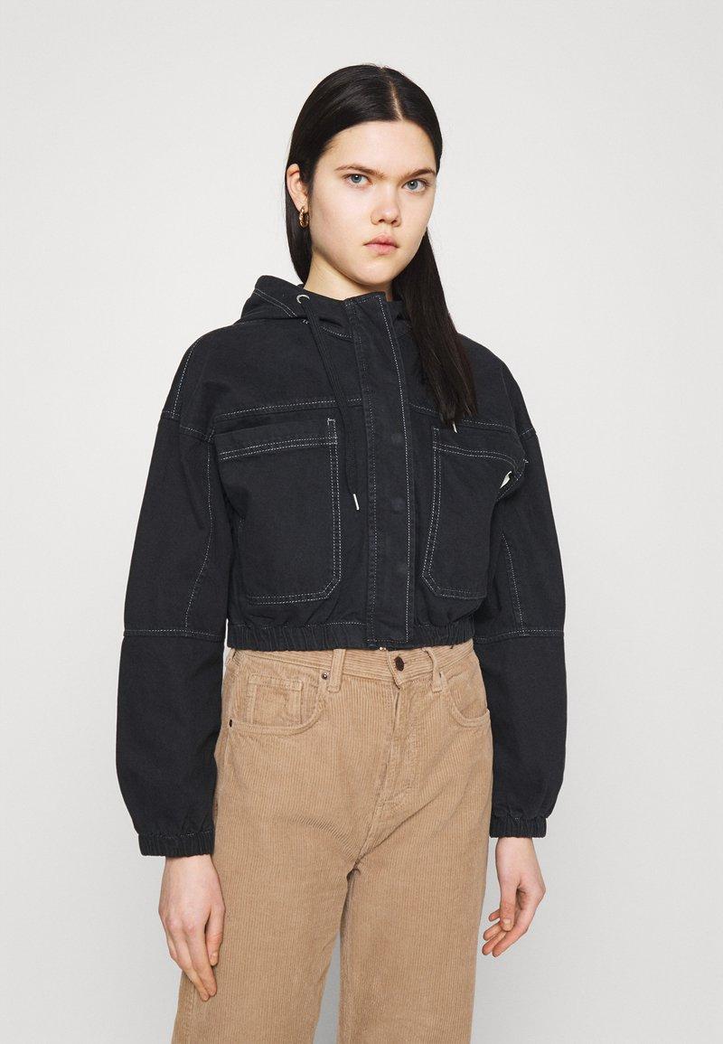 BDG Urban Outfitters - JARED HOODED JACKET - Denim jacket - black