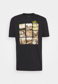 The North Face - BASE FALL GRAPHIC TEE - Print T-shirt - black - 3