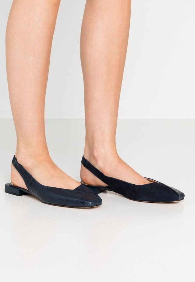 Slingback ballet pumps - dark blue