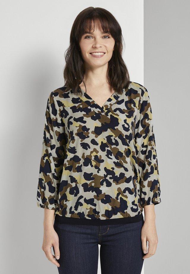 Bluzka - khaki yellow camouflage design