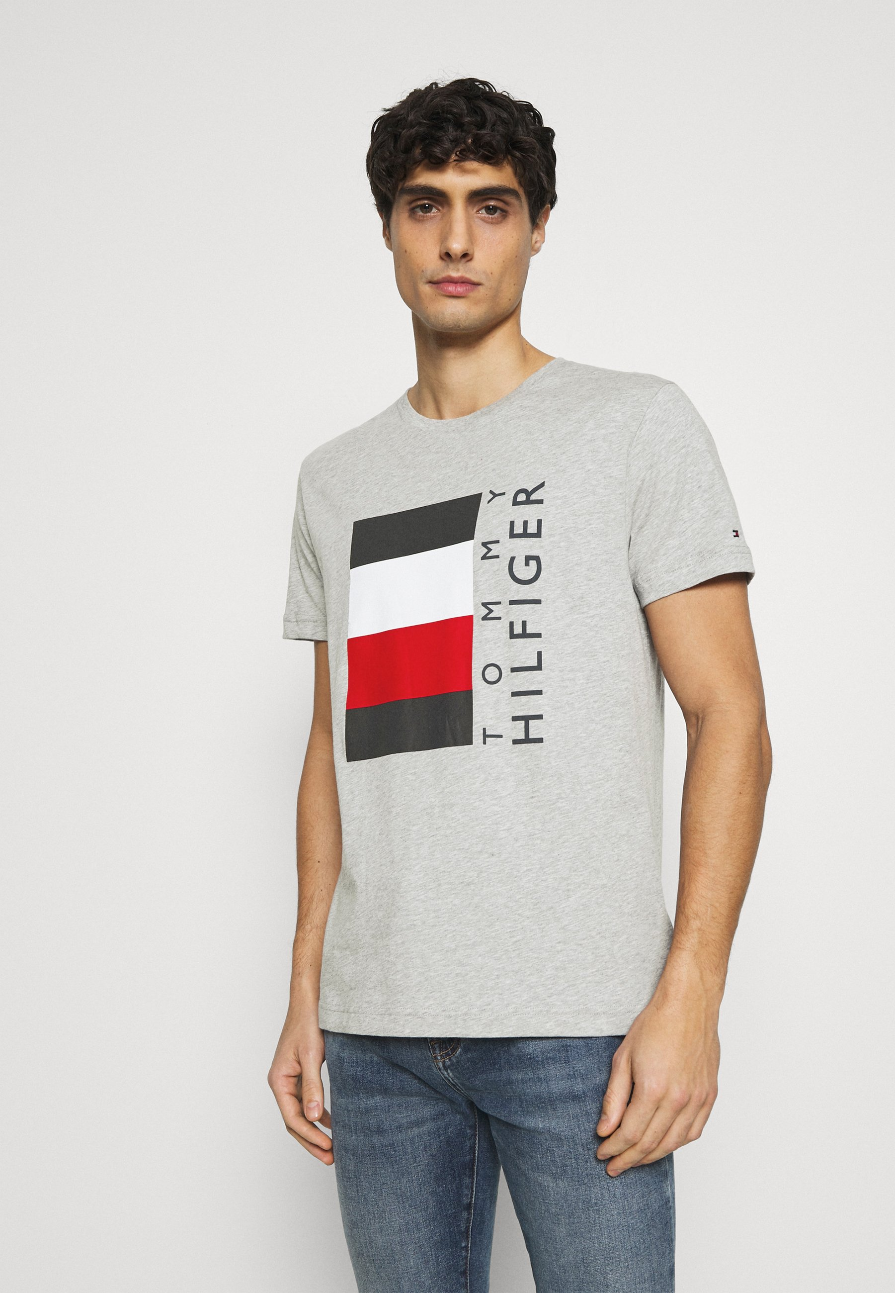 Men CORP STRIPE BOX TEE - Print T-shirt