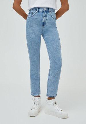 BASIC - Relaxed fit jeans - mottled light blue