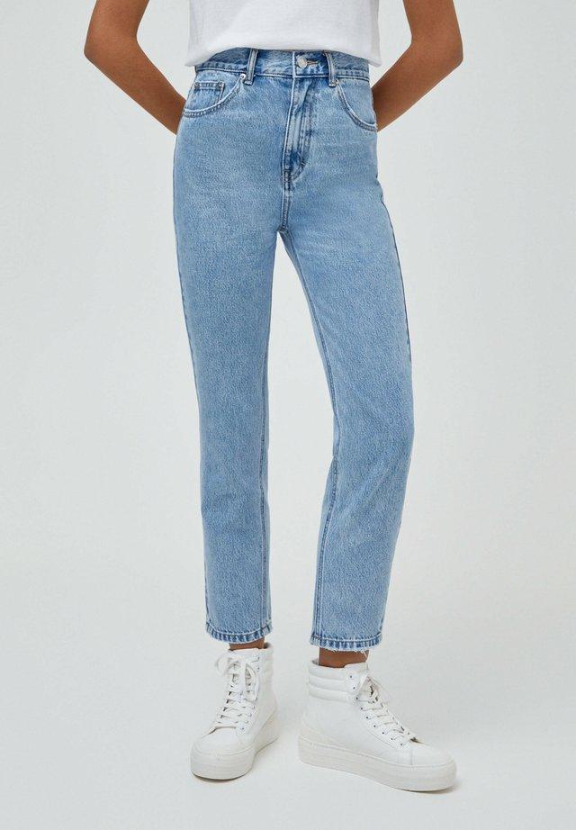 BASIC - Jean boyfriend - mottled light blue