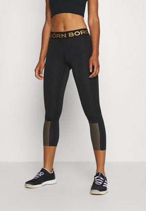 MEDAL - Tights - black/gold