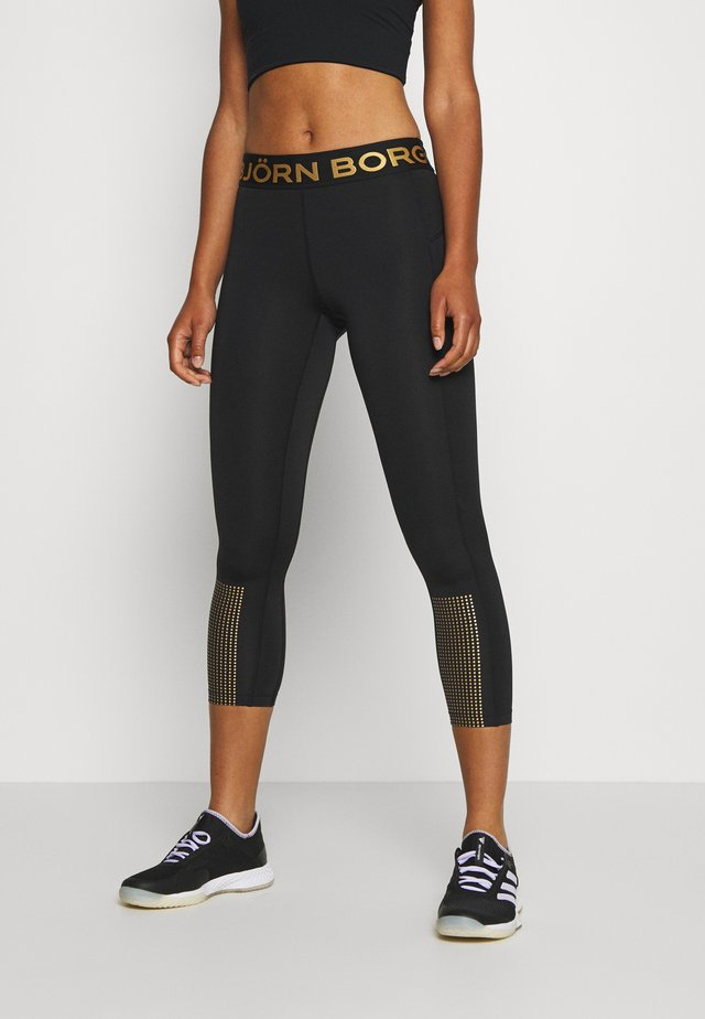 MEDAL - Legging - black/gold