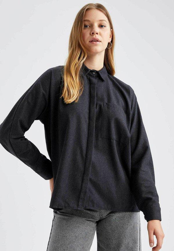 DeFacto Koszula - black/czarny VDVE