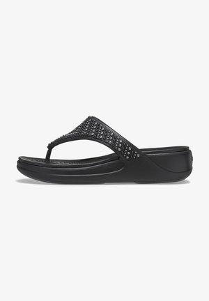 MONTEREY SHIMMER  - T-bar sandals - black